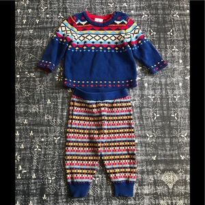 Hanna Andersson Nordic knit set 70 (6-12M)